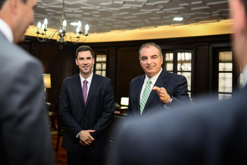 Ministro Aurelio Irragori y Juan Pablo Díaz Granados