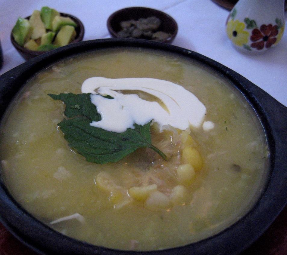 Ajiaco, un plato de la región Andina