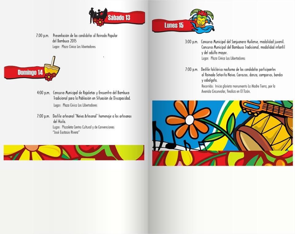 Huila comienza el 55 Festival Folclórico Nacional del Bambuco