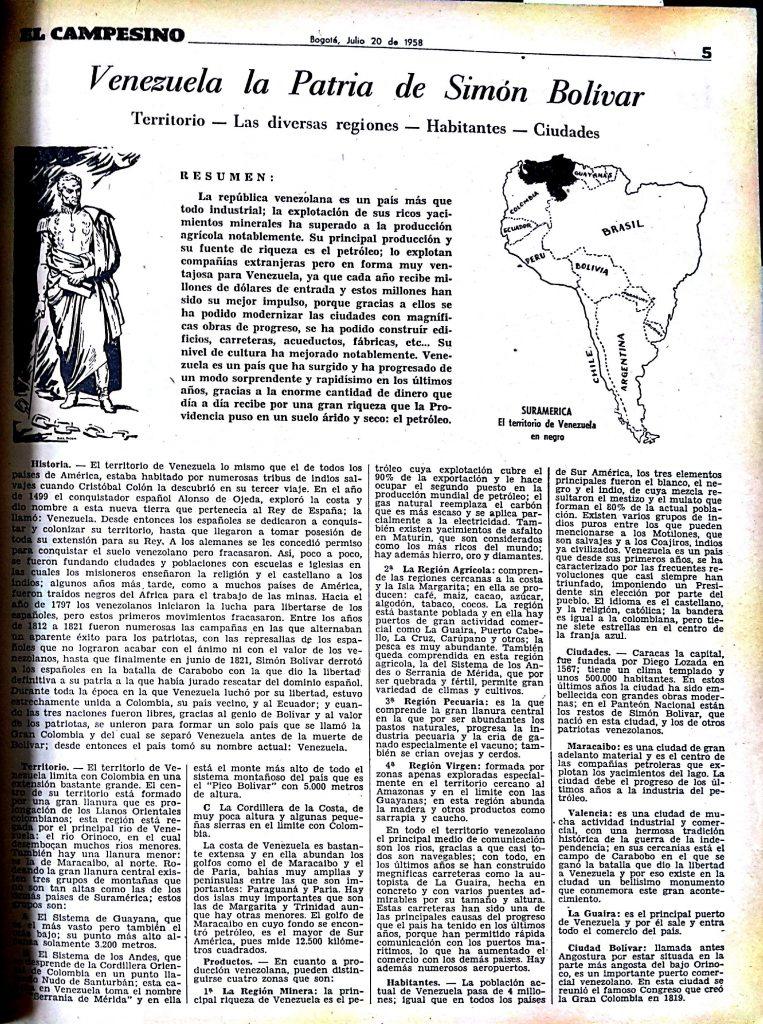 Venezuela la patria de Simón Bolivar