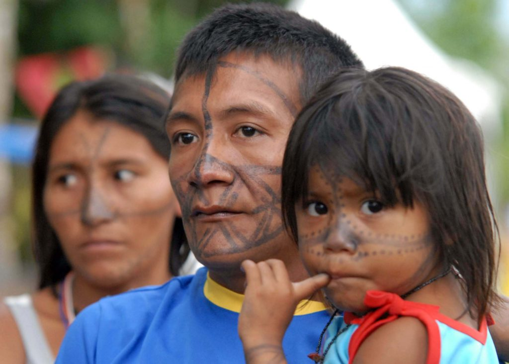 Belém - PA. Indios participantes do FSM no Acampamento da Juventude