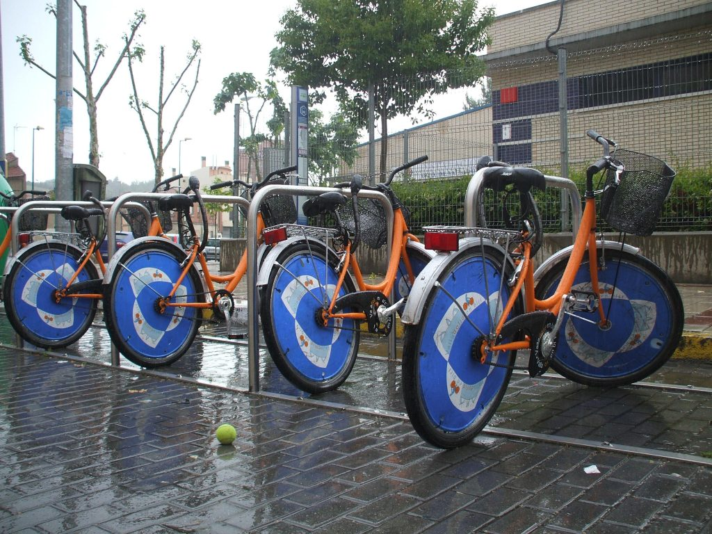 Sistema de bicicletas publicas en Valladolid, España.