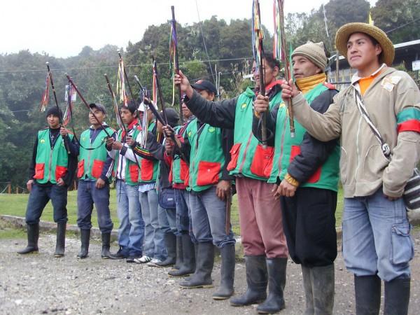 Guardia indígena del Cauca.  Foto: onic.org.