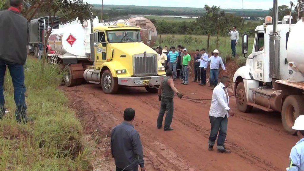 Foto: Via al campo petrolero, Rubiales. Llanos Orientales.
