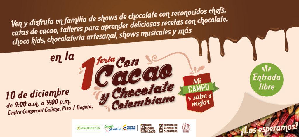feria con cacao y chocolate