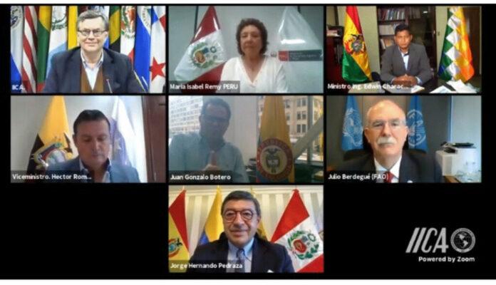 Países de la Comunidad Andina impulsarán agenda agropecuaria regional